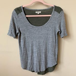 Madewell easy fit colorblock tee #69